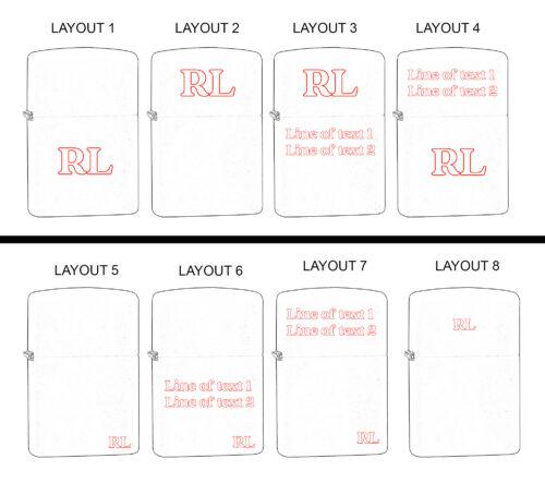 Zippo Engraving Layouts