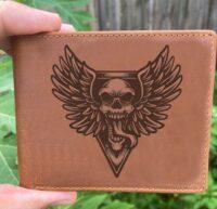 Winged Skull Bifold Wallet